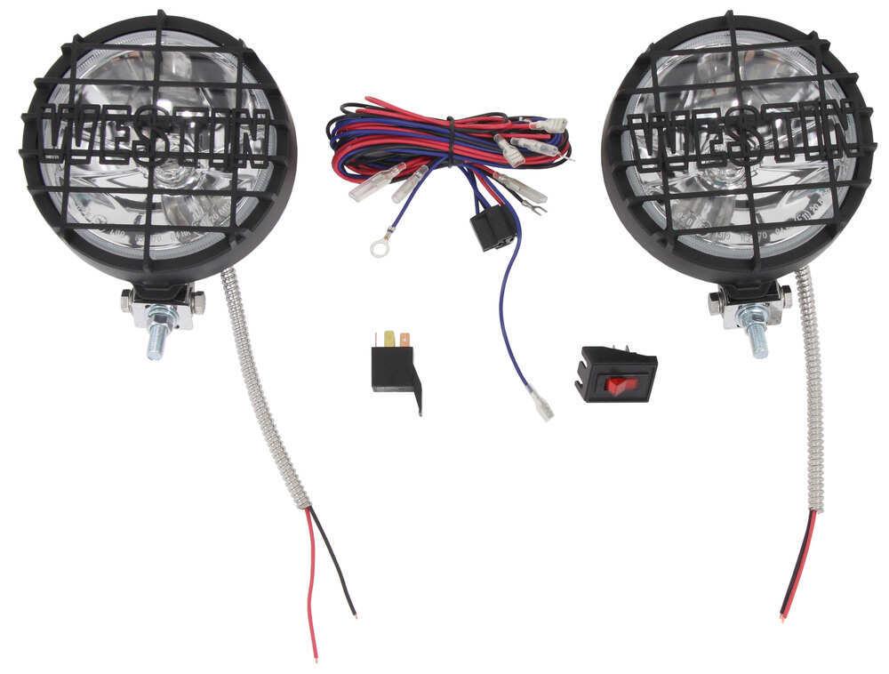 "Westin Off-Road Driving Lights - 6"" Diameter - Black Powder Coat - 1 Pair Halogen Light 09-0505"