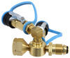 MB Sturgis Sturgi-Stay T-Fitting for POL Valve - 2 Model 250 Quick Disconnect Ports POL - Male 103537-MBS