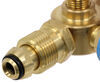 MB Sturgis Sturgi-Stay T-Fitting w/ Hoses for POL Valve - 2 Model 250 Quick Disconnect Ports 1/4 Inch - Male QD 103539-MBS