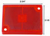 Replacement Red Lens for Peterson Rectangular Clearance or Marker Light w/ Reflector - New Style Red 114-15R
