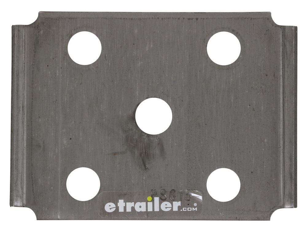 """U-Bolt Plate for 2"""" Square Axle - 1-3/4"""", 2"""" Springs - 9/16"""" Bolts Square Axle - 2 Inch 117594"""