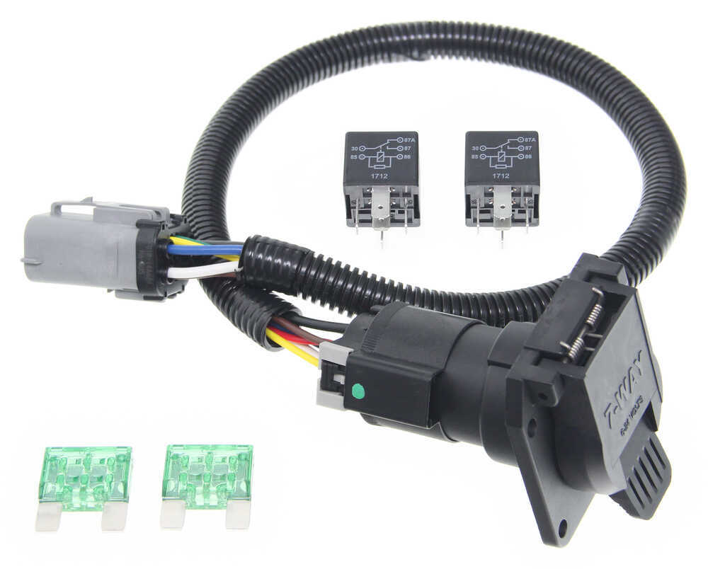 ford replacement oem tow package wiring harness, 7-way (super duty) tow  ready custom fit vehicle wiring 118243  etrailer.com