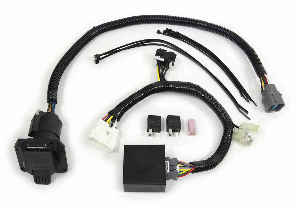 T-One Vehicle Wiring Harness for Factory Tow Package - 7-Way Trailer  Connector Tekonsha Custom Fit Vehicle Wiring 118265etrailer.com