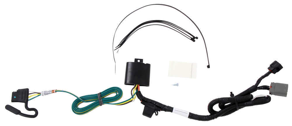 T-One Vehicle Wiring Harness for Factory Tow Package - 4-Pole Flat Trailer Connector 4 Flat 118269