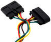 T-One Vehicle Wiring Harness with 4-Pole Flat Trailer Connector 4 Flat 118301