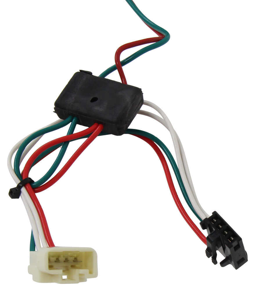 T One Vehicle Wiring Harness With 4 Pole Flat Trailer Connector Tekonsha Custom Fit Vehicle Wiring 118304