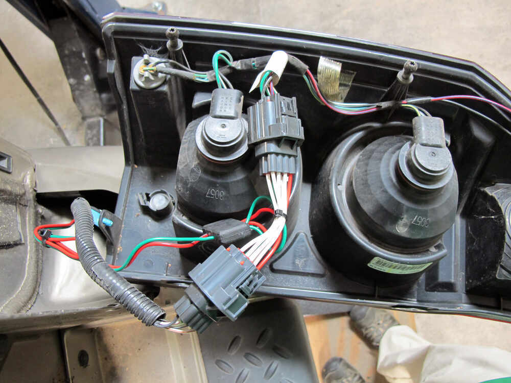 [DVZP_7254]   T-One Vehicle Wiring Harness with 4-Pole Flat Trailer Connector Tekonsha  Custom Fit Vehicle Wiring 118408 | 2007 Jeep Commander Hitch And Wiring Harness |  | etrailer.com