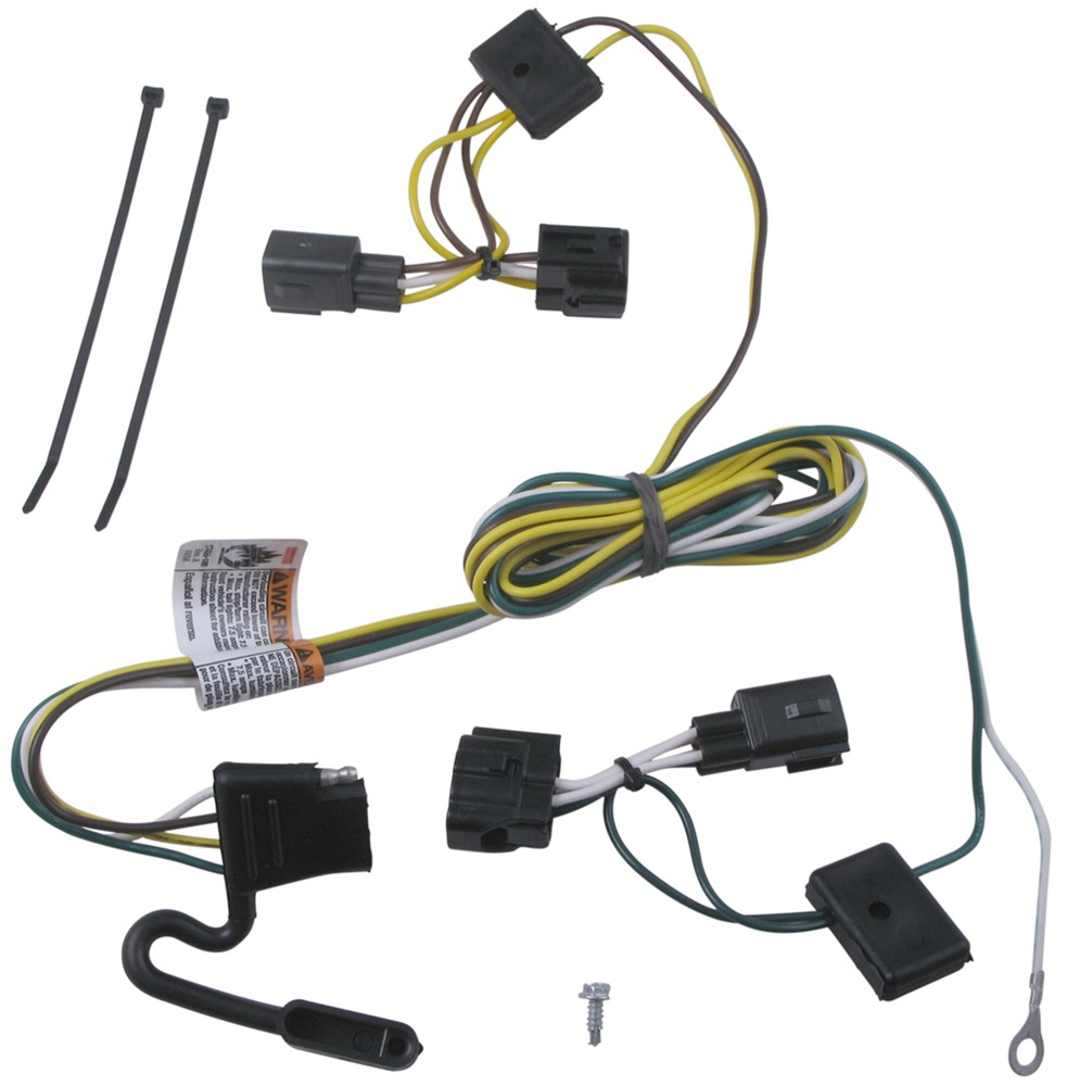 T-One Vehicle Wiring Harness with 4-Pole Flat Trailer Connector Tekonsha  Custom Fit Vehicle Wiring 118409 | 2005 Jeep Wrangler Trailer Wiring Harness |  | etrailer.com
