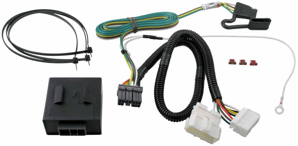 T-One Vehicle Wiring Harness with 4-Pole Flat Trailer Connector Custom Fit 118521
