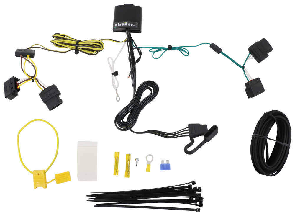 T-One Vehicle Wiring Harness with 4-Pole Flat Trailer Connector Tekonsha  Custom Fit Vehicle Wiring 118551etrailer.com