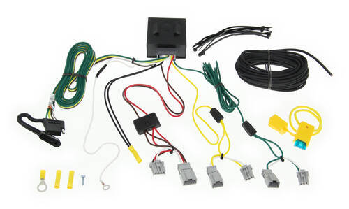 T One Vehicle Wiring Harness With 4 Pole Flat Trailer Connector Tekonsha Custom Fit Vehicle Wiring 118563