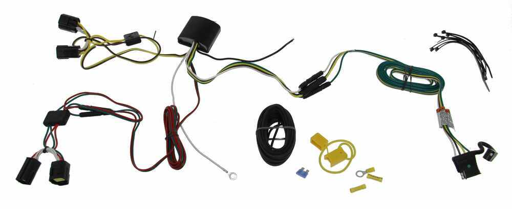 T-One Vehicle Wiring Harness with 4-Pole Flat Trailer Connector Powered Converter 118585