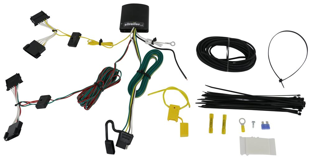 T-One Vehicle Wiring Harness with 4-Pole Flat Trailer Connector Powered Converter 118649