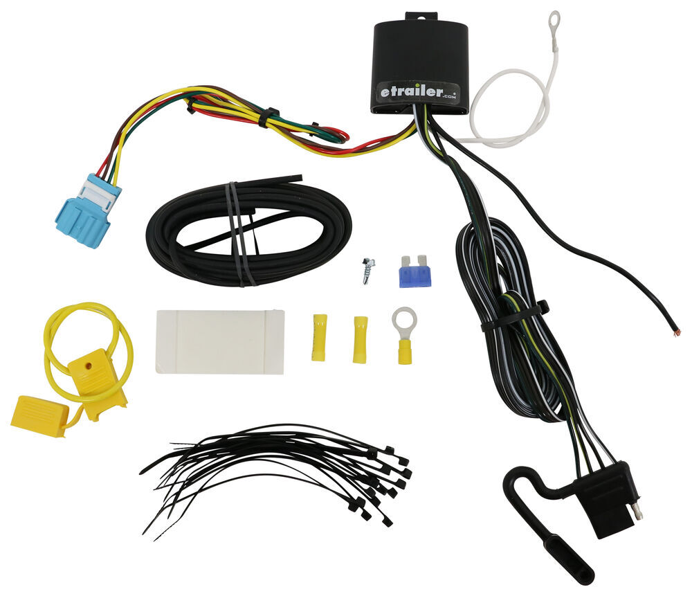 T-One Vehicle Wiring Harness with 4-Pole Flat Trailer Connector Custom Fit 118753