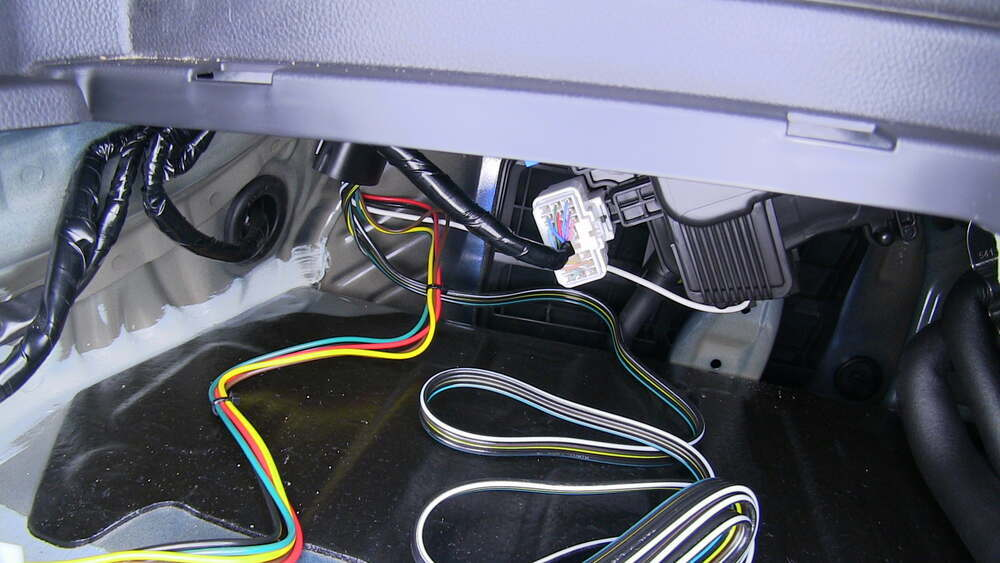 T One Vehicle Wiring Harness With 4 Pole Flat Trailer Connector Tekonsha Custom Fit Vehicle Wiring 118790