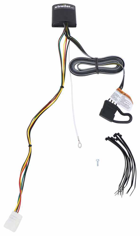 T-One Vehicle Wiring Harness with 4-Pole Flat Trailer Connector Custom Fit 118790