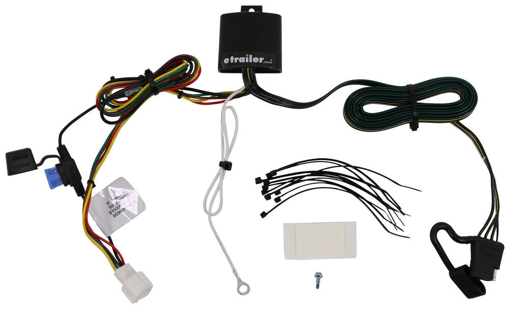 T One Vehicle Wiring Harness With 4 Pole Flat Trailer Connector Tekonsha Custom Fit Vehicle Wiring 118800