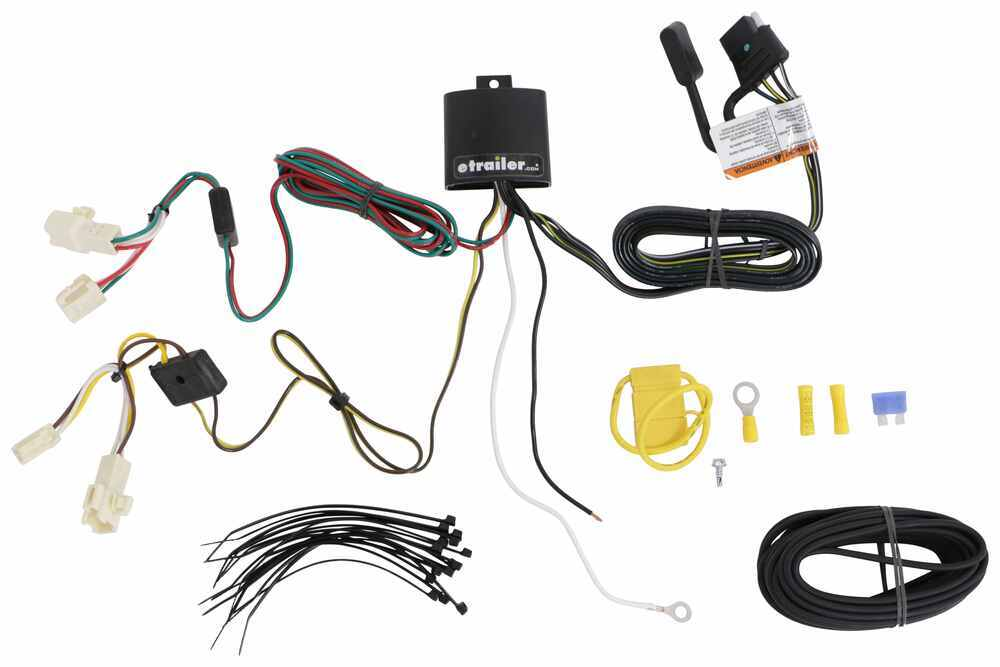 T One Vehicle Wiring Harness With 4 Pole Flat Trailer Connector Tekonsha Custom Fit Vehicle Wiring 118801