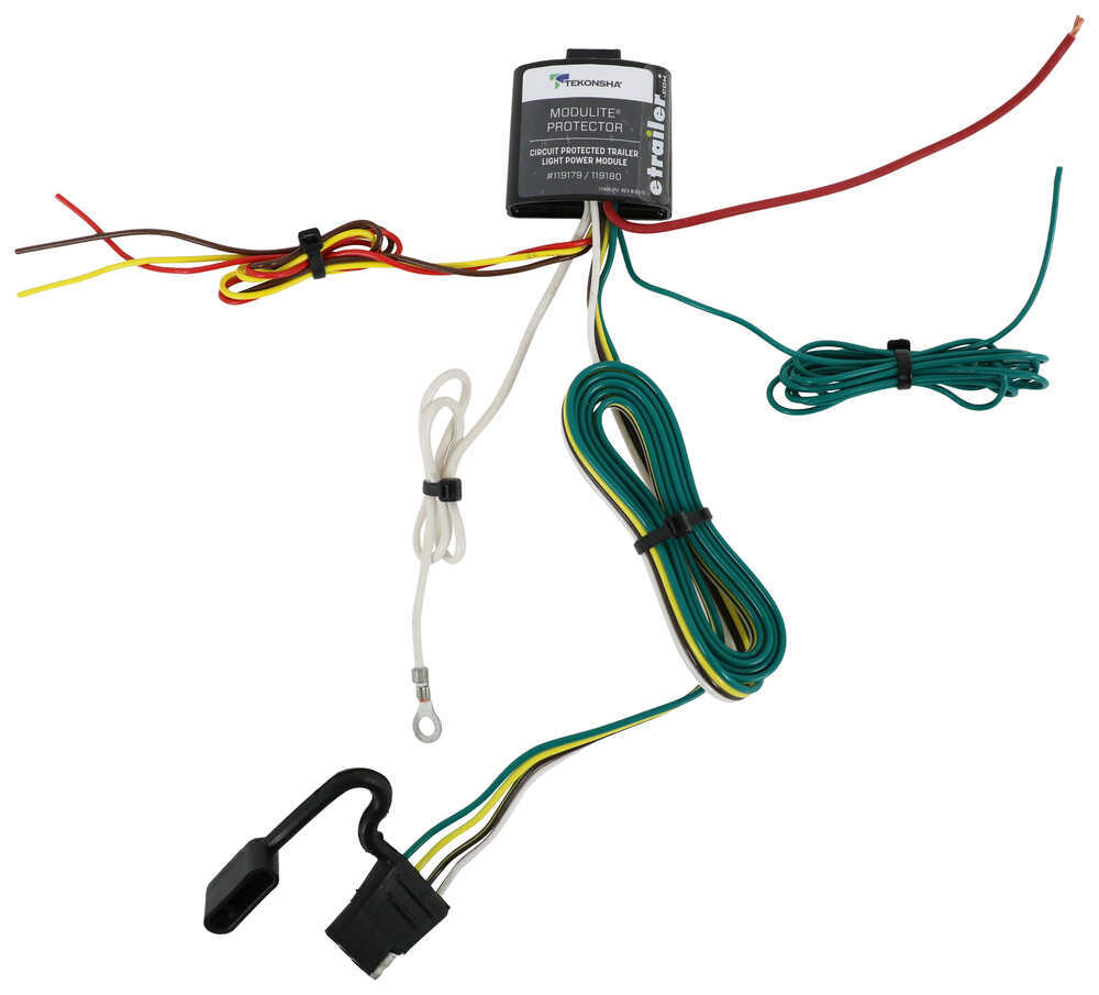 upgraded modulite circuit protected vehicle wiring harness with 4 pole  trailer connector tekonsha wiring 119179  etrailer.com