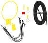 ZCI Circuit Protected Vehicle Wiring Harness w/ 4-Pole Flat Trailer Connector and Installation Kit Vehicle End Connector 119250KIT