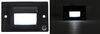 Optronics Compact LED RV Courtesy Light - 1 Diode - Rectangle - Black Housing - Clear Lens 1-3/4L x 2-3/4W Inch 16802LB