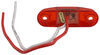 Piranha Slim-Line LED Mini Clearance or Side Marker Light - Submersible - 2 Diodes - Red Lens Oval 168R