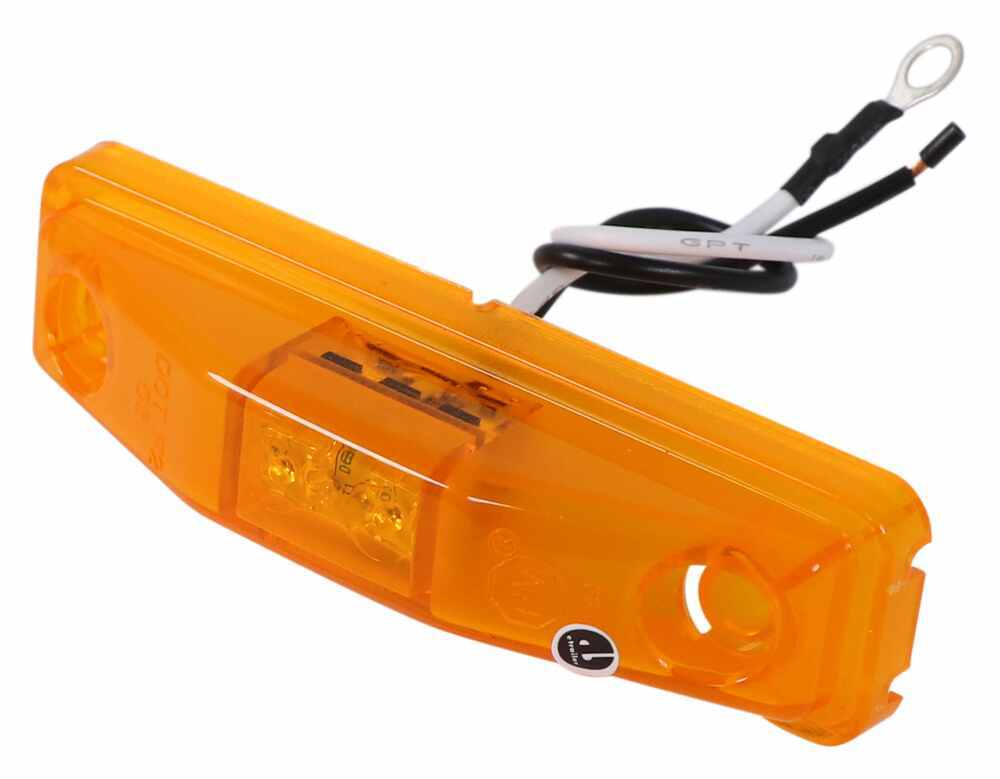 Peterson Piranha LED Clearance or Side Marker Trailer Light - Submersible - 2 Diodes - Amber Lens 4L x 1W Inch 169A