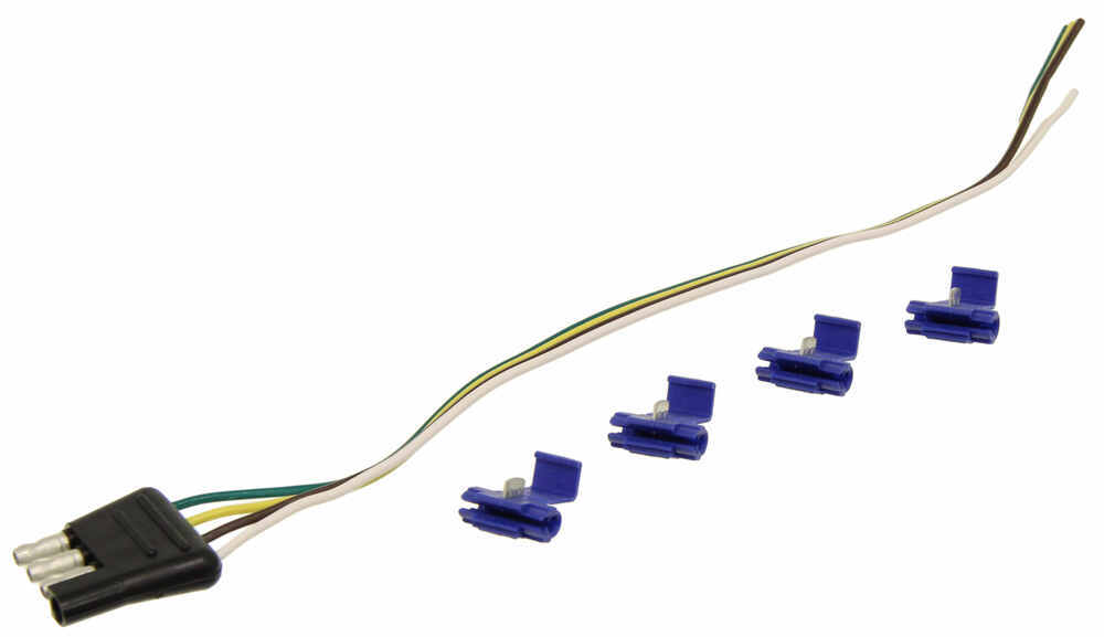 Tekonsha 20250 4-Flat Connector Harness Wiring Kit Vehicle End