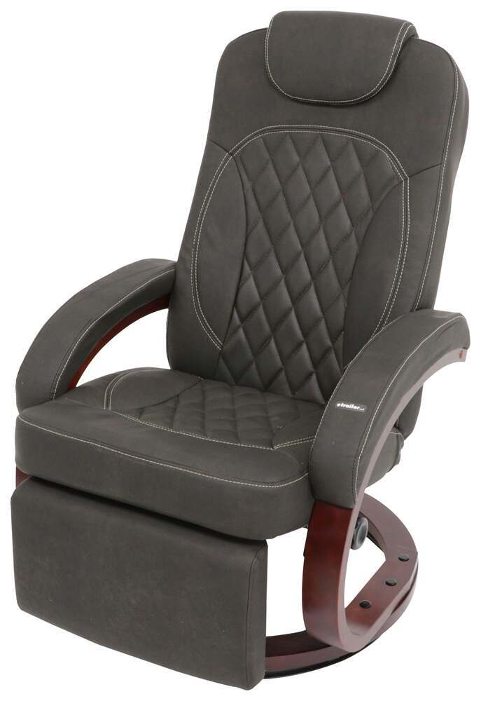 "Thomas Payne Euro RV Recliner Chair w/ Footrest - 20"" Seat Width - Oxford Walnut Euro Recliner 195-000062"