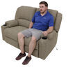Thomas Payne Seismic Dual Power Reclining RV Loveseat w/ Heat, Massage, LEDs - Cobble Creek 62 Inch Wide 195-000098-099