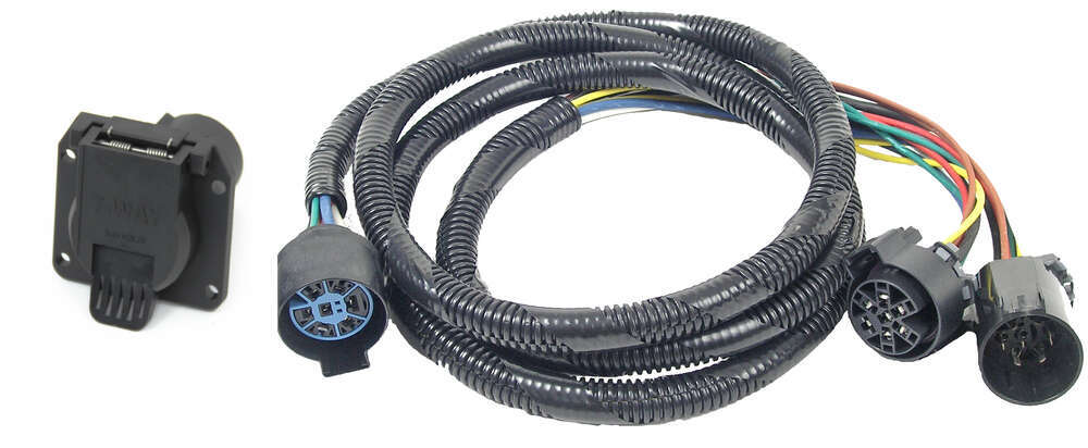Tow Ready 5th Wheel/Gooseneck Wiring Harness for Aluminum Truck Beds - 7 Way RV - 7' Long 7 Blade 20110-010
