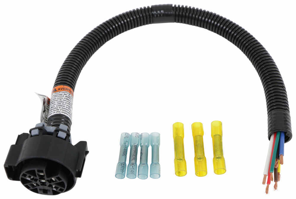 Tow Ready Replacement 7-Way Harness and Socket for Factory Tow Package Plug and Lead 20147