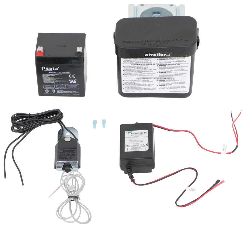 Tekonsha Shur-Set III Trailer Breakaway Kit with Built-In Battery Charger - Top Load - Clamp On Side Load 2028
