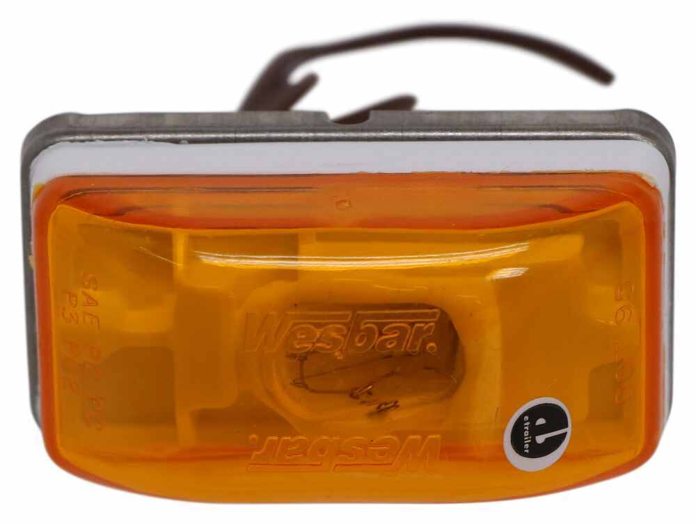 Wesbar Mini Clearance and Side Marker Trailer Light - Submersible - White Base - Amber Lens Amber 203233