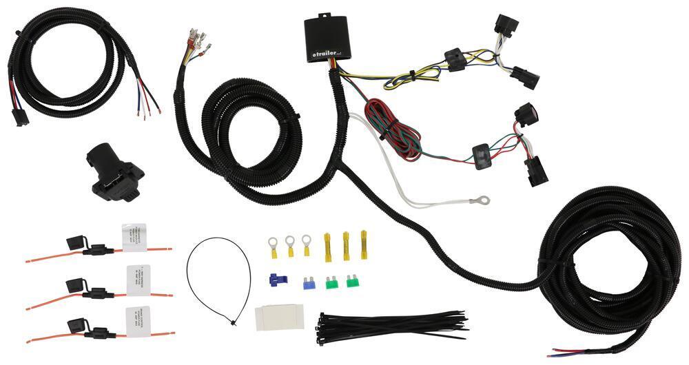 Tekonsha OEM Replacement Vehicle Wiring Harness w Brake Controller Adapter - 7 Way Trailer Connector Custom Fit 22112