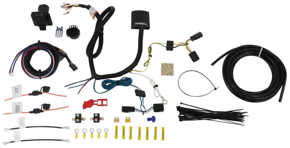 Tekonsha OEM Replacement Vehicle Wiring Harness w Brake Controller Adapter - 7 Way Trailer Connector Custom Fit 22121