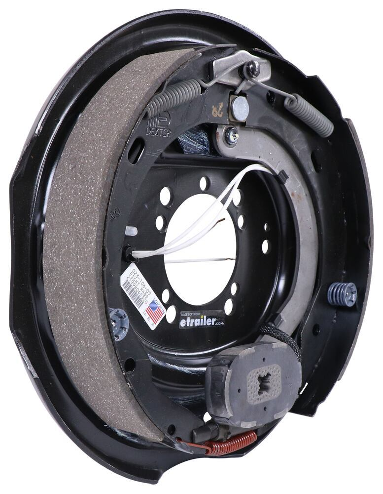 """Dexter Electric Brake Assembly for 4 Bolt or 5 Bolt Flange - 12"""" - Right Hand - 6,000 lbs Electric Drum Brakes 23-106-09"""