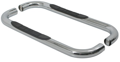 """Westin E-Series Round Nerf Bars - 3"""" - Polished Stainless Steel Fixed Step 23-2320"""