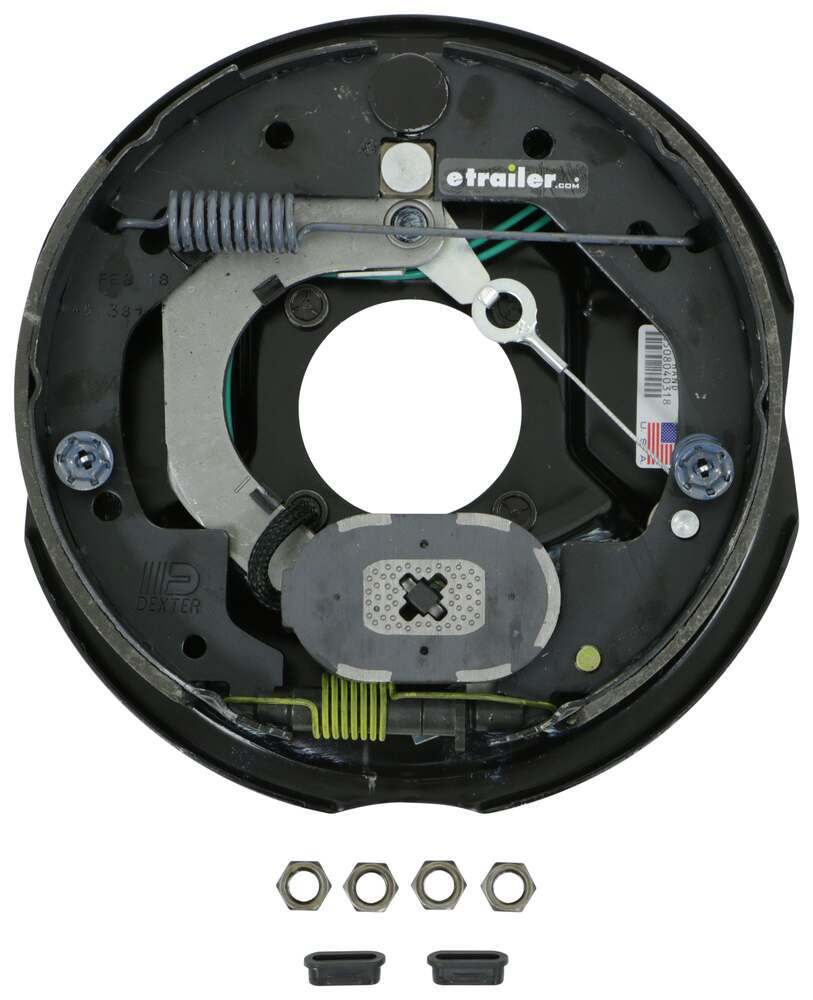 "Dexter Nev-R-Adjust Electric Trailer Brake Assembly - 10"" - Left Hand - 3,500 lbs Electric Drum Brakes 23-468"