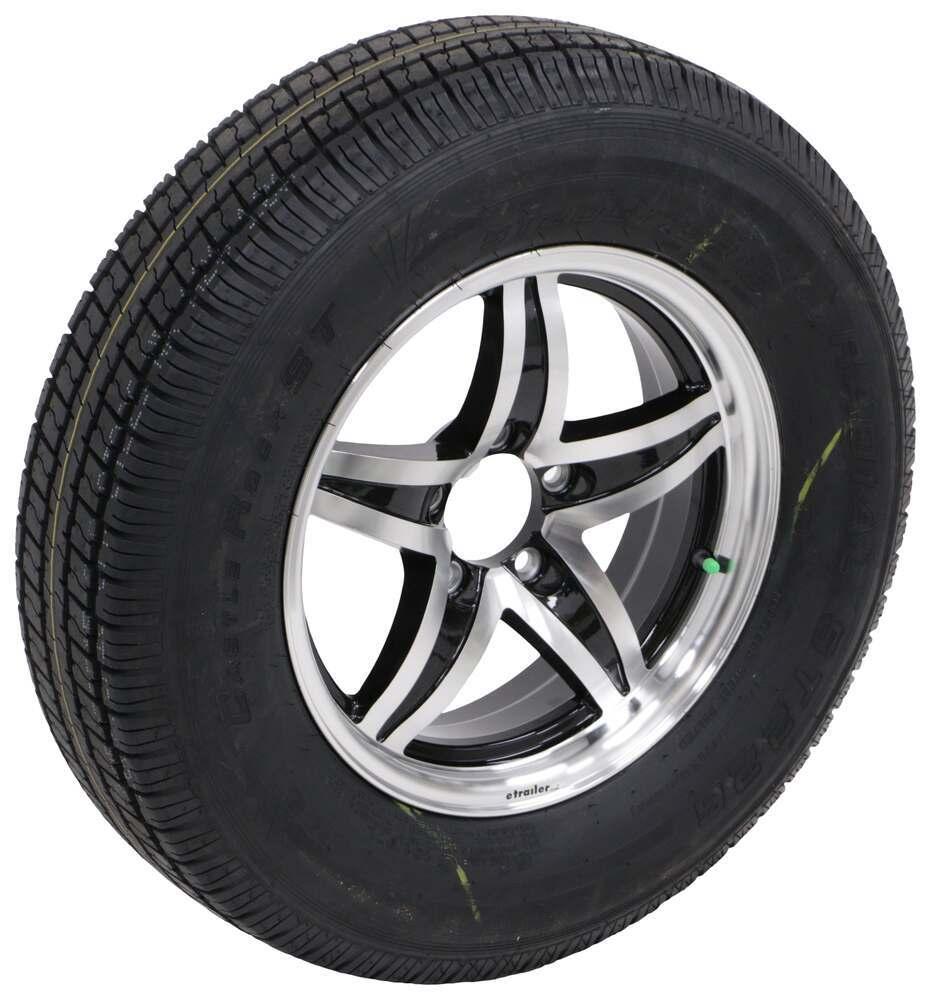 "Westlake ST205/75R15 Radial Tire w 15"" Lynx Aluminum Wheel - 5 on 4-1/2 - LR D - Black 15 Inch 274-000040"
