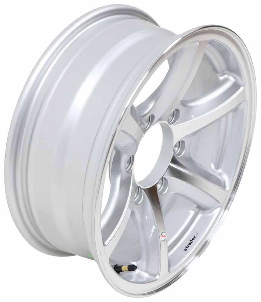 "Aluminum Bearcat Trailer Wheel - 16"" x 6"" Rim - 6 on 5-1/2 - Silver 16 Inch 274-000044"