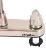 RV Kitchen Faucet - Dual Teacup Handle - Satin Nickel No Sprayer 277-000014