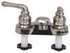 RV Bathroom Faucet - Dual Teacup Handle - Satin Nickel Conventional Spout 277-000021