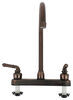 Ultra Faucets RV Kitchen Faucet - Dual Teacup Handle - Oil Rubbed Bronze Standard Sink Faucet 277-000052