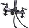 Ultra Faucets RV Kitchen Faucet w/ Pull Down Spout - Dual Teacup Handle - Black Gooseneck Spout 277-000068