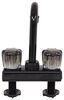 Ultra Faucets RV Bar Faucet - Dual Knob Handle - Black Gooseneck Spout 277-000069