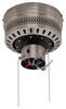 """42"""" Hugger Style RV Ceiling Fan with Light Kit for RVs - Brushed Chrome Cherry/Maple Blades 277-000081"""
