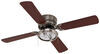 """42"""" Hugger Style RV Ceiling Fan with Light Kit for RVs - Brushed Chrome 4 Blades 277-000081"""