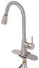 RV Kitchen Faucet w/ Pull Down Spout - Single Lever Handle - Brushed Nickel Side Lever 277-000129
