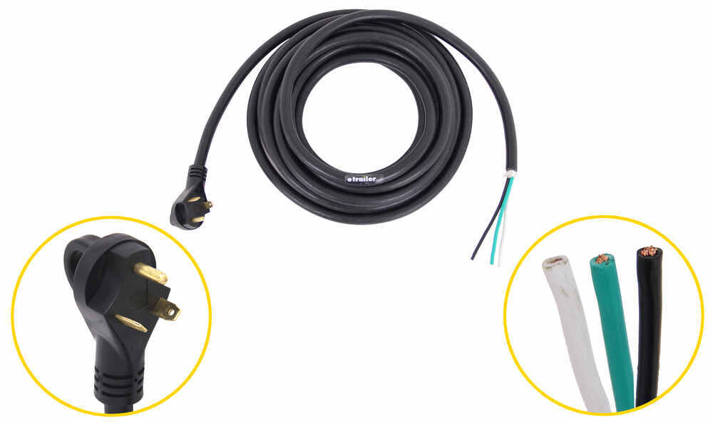 Epicord RV Power Cord with Handle - 30 Amp Male Plug - 25' Long Pigtail 25 Feet Long 277-000144